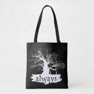 Harry Potter Spell | Always Quote Silhouette Tote Bag