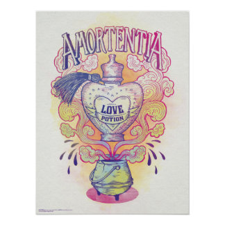 Harry Potter Spell | Amortentia Love Potion Bottle Poster