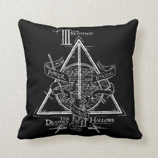 Harry Potter Spell | DEATHLY HALLOWS Graphic Throw Pillow