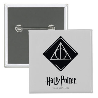 Harry Potter Spell | Deathly Hallows Icon 15 Cm Square Badge