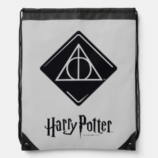 Harry Potter Spell | Deathly Hallows Icon Drawstring Bag