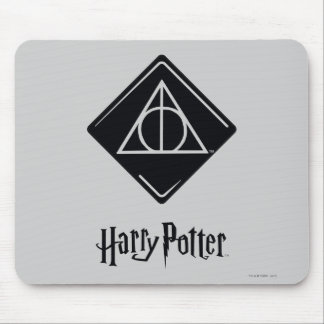 Harry Potter Spell   Deathly Hallows Icon Mouse Pad