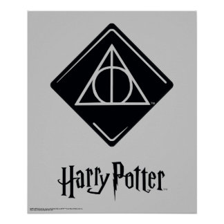 Harry Potter Spell | Deathly Hallows Icon Poster
