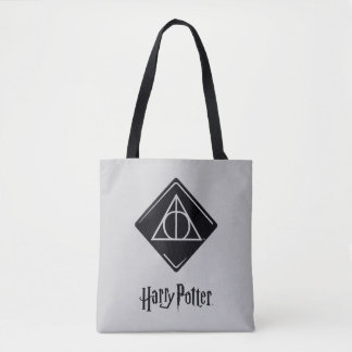 Harry Potter Spell | Deathly Hallows Icon Tote Bag