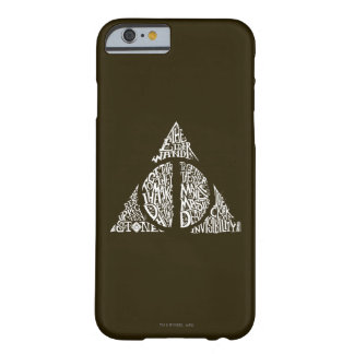 Harry Potter Spell | DEATHLY HALLOWS Typography Gr Barely There iPhone 6 Case