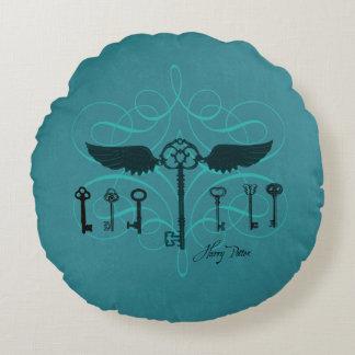 Harry Potter Spell   Flying Keys Round Cushion