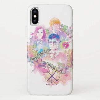 Harry Potter Spell   Harry, Hermione, & Ron Waterc iPhone X Case