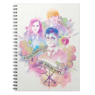 Harry Potter Spell | Harry, Hermione, & Ron Waterc Notebook