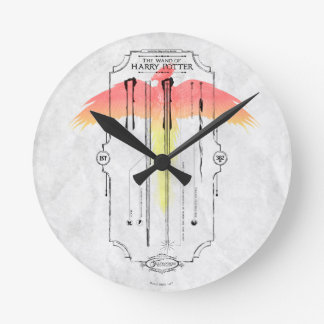 Harry Potter Spell | Harry's Wand Infographic Round Clock