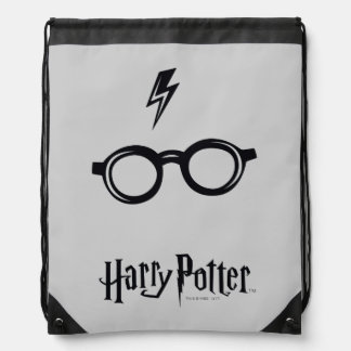 Harry Potter Spell | Lightning Scar and Glasses Drawstring Bag