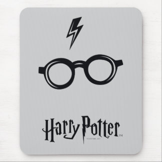 Harry Potter Spell | Lightning Scar and Glasses Mouse Pad