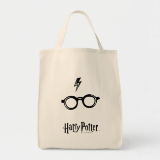 Harry Potter Spell | Lightning Scar and Glasses Tote Bag