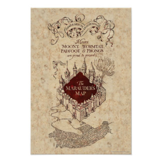 Harry Potter Spell | Marauder's Map Poster