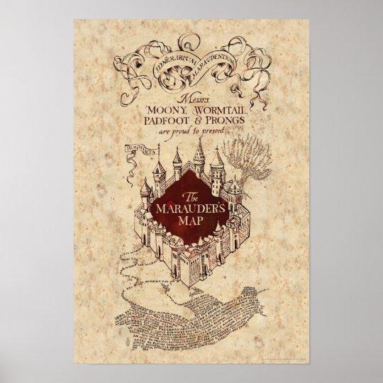 Harry Potter Spell   Marauder\'s Map Poster   Zazzle.com.au