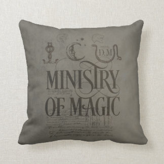 Harry Potter Spell | MINISTRY OF MAGIC Throw Pillow