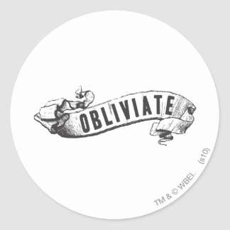 Harry Potter Spell | Obliviate Classic Round Sticker