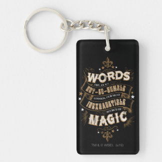 Harry Potter Spell | Words Are Our Most Inexhausti Key Ring