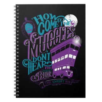 Harry Potter | The Knight Bus Typography Graphic Notebooks