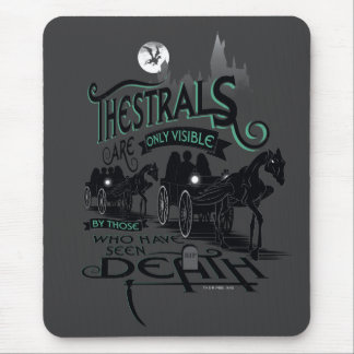 Harry Potter | Thestrals Typography Graphic Mouse Pad