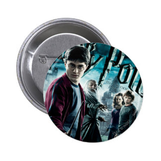 Harry Potter With Dumbledore Ron and Hermione 1 6 Cm Round Badge