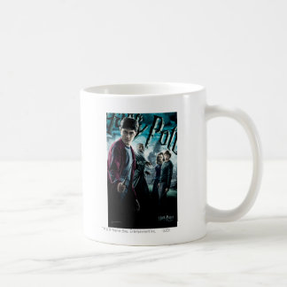 Harry Potter With Dumbledore Ron and Hermione 1 Basic White Mug