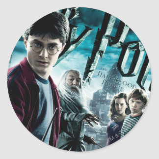 Harry Potter With Dumbledore Ron and Hermione 1 Classic Round Sticker