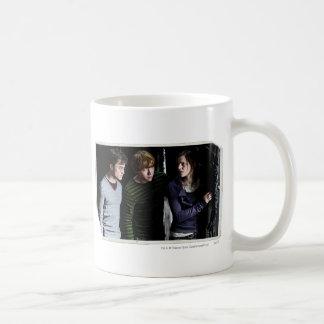 Harry, Ron, and Hermione 4 Basic White Mug