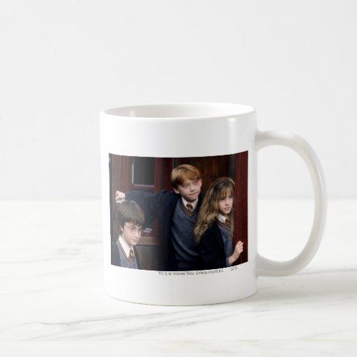 Harry, Ron, and Hermione Basic White Mug