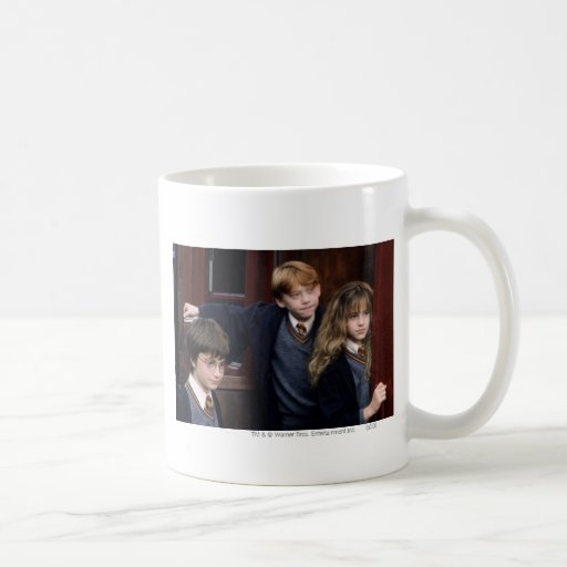 Harry, Ron, and Hermione Classic White Coffee Mug