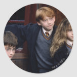 Harry, Ron, and Hermione Round Stickers