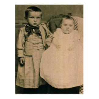 Harry & Rosie, children of Hal & Lottie ZARFOS Postcard