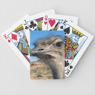 Harry the Happy Ostrich Bicycle Playing Cards