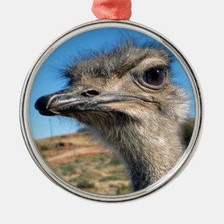 Harry the Happy Ostrich Metal Ornament
