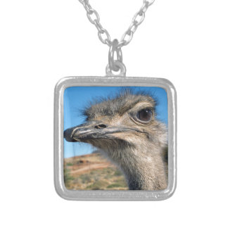 Harry the Happy Ostrich Silver Plated Necklace