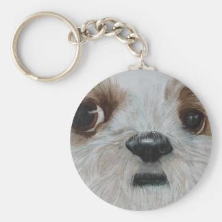 Harry the Shih Tzu Basic Round Button Key Ring