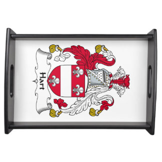 Hart Family Crest Food Trays
