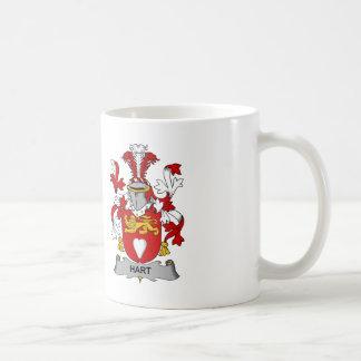 Hart Family Crest Classic White Coffee Mug