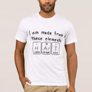 Hart periodic table name shirt