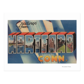Hartford, Connecticut - Large Letter Scenes 2 Postcard