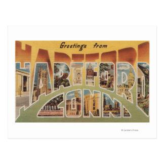 Hartford, Connecticut - Large Letter Scenes 3 Postcard