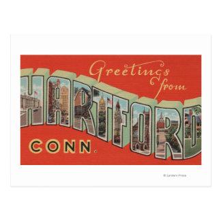 Hartford, Connecticut - Large Letter Scenes 4 Postcard