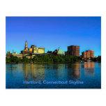 Hartford Connecticut Skyline Cartoon Post Card
