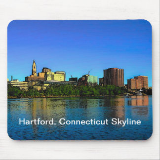 Hartford Connecticut Skyline Mouse Pad