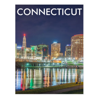 hartford connecticut skyline postcard