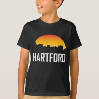 Hartford Connecticut Sunset Skyline T-Shirt