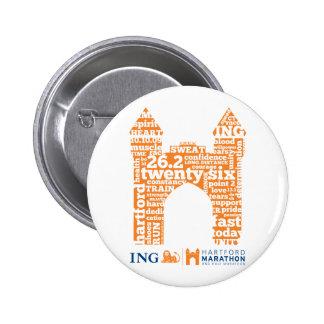 Hartford Marathon: Arch 6 Cm Round Badge