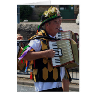 Harthill Morris Man, Harthill Carnival Parade. Card