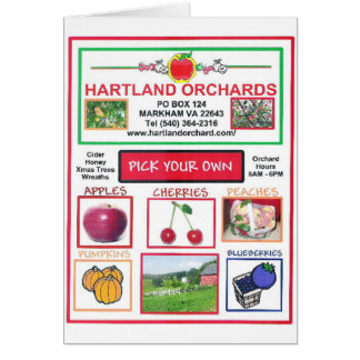 HARTLAND ORCHARDS CARD