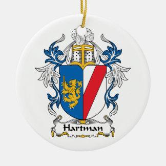 Hartman Family Crest Ceramic Ornament