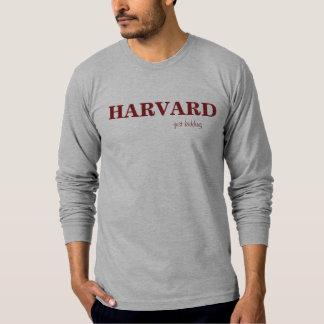 HARVARD just kidding T Shirt Burgundy on Gray
